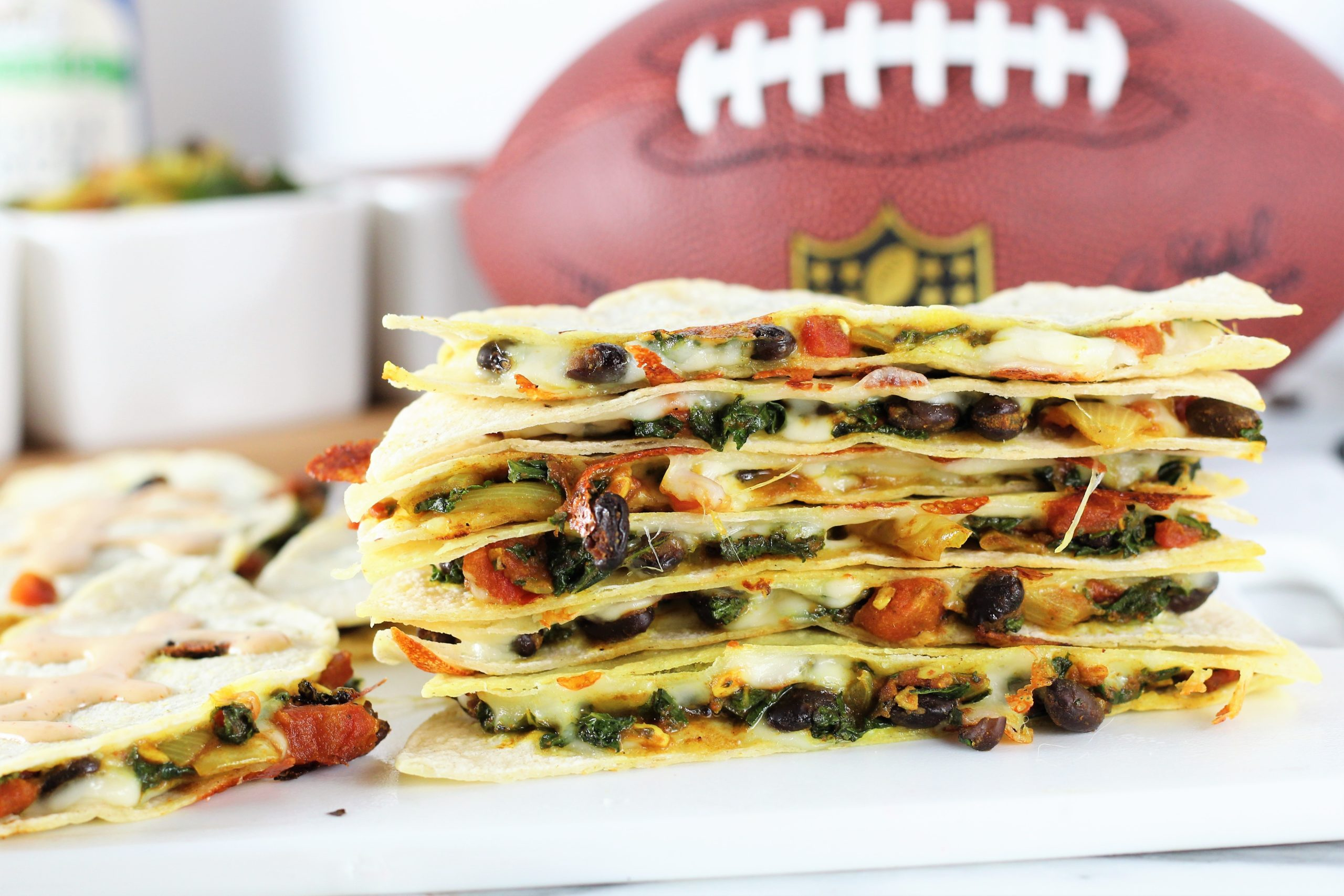quesadillas with black beans and veggies