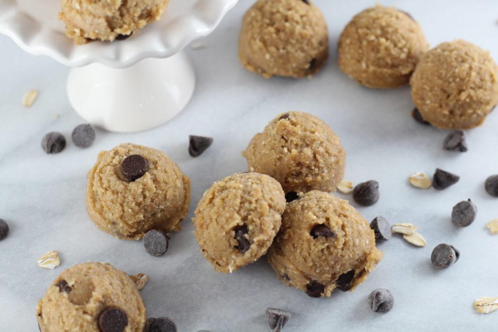 pile of low sugar cookie dough bites