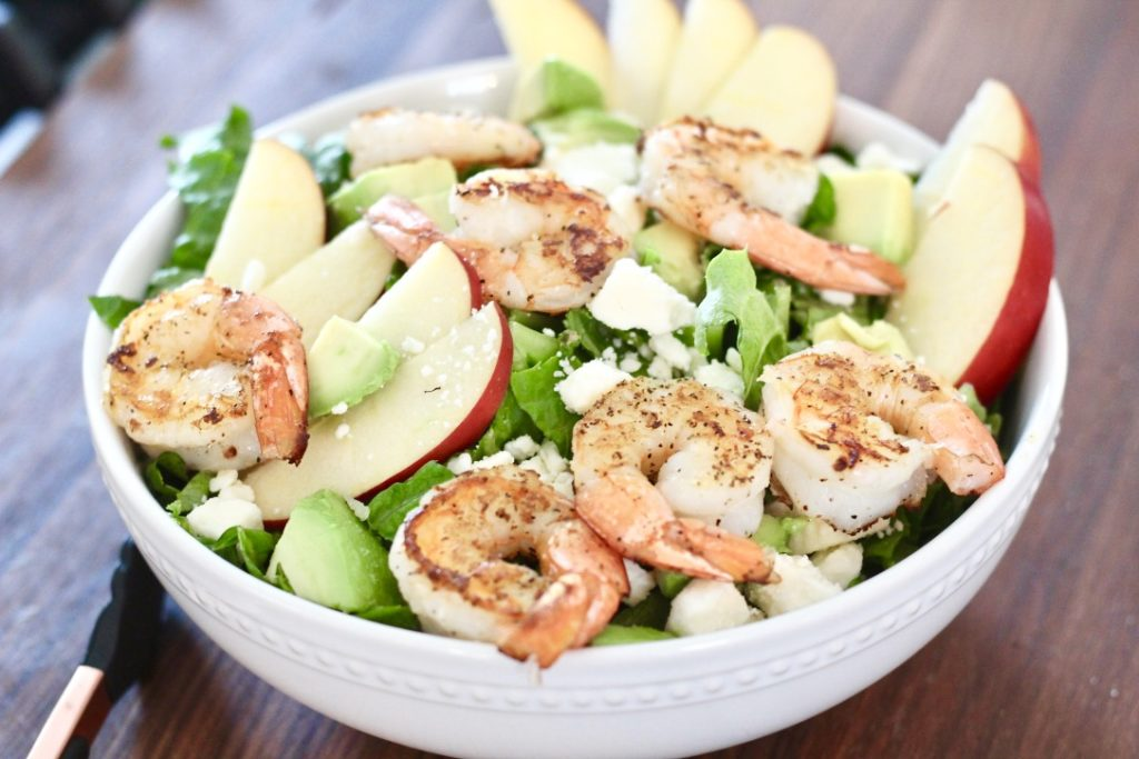 shrimp and apples in salad how to cook shrimp