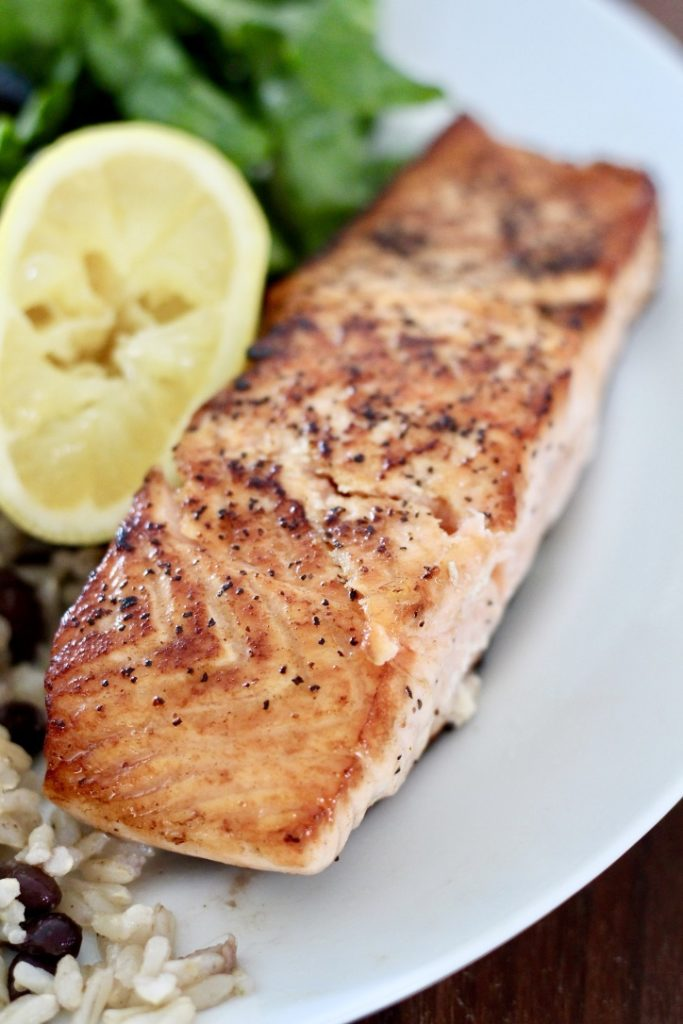 salmon on plate with lemon how to cook salmon