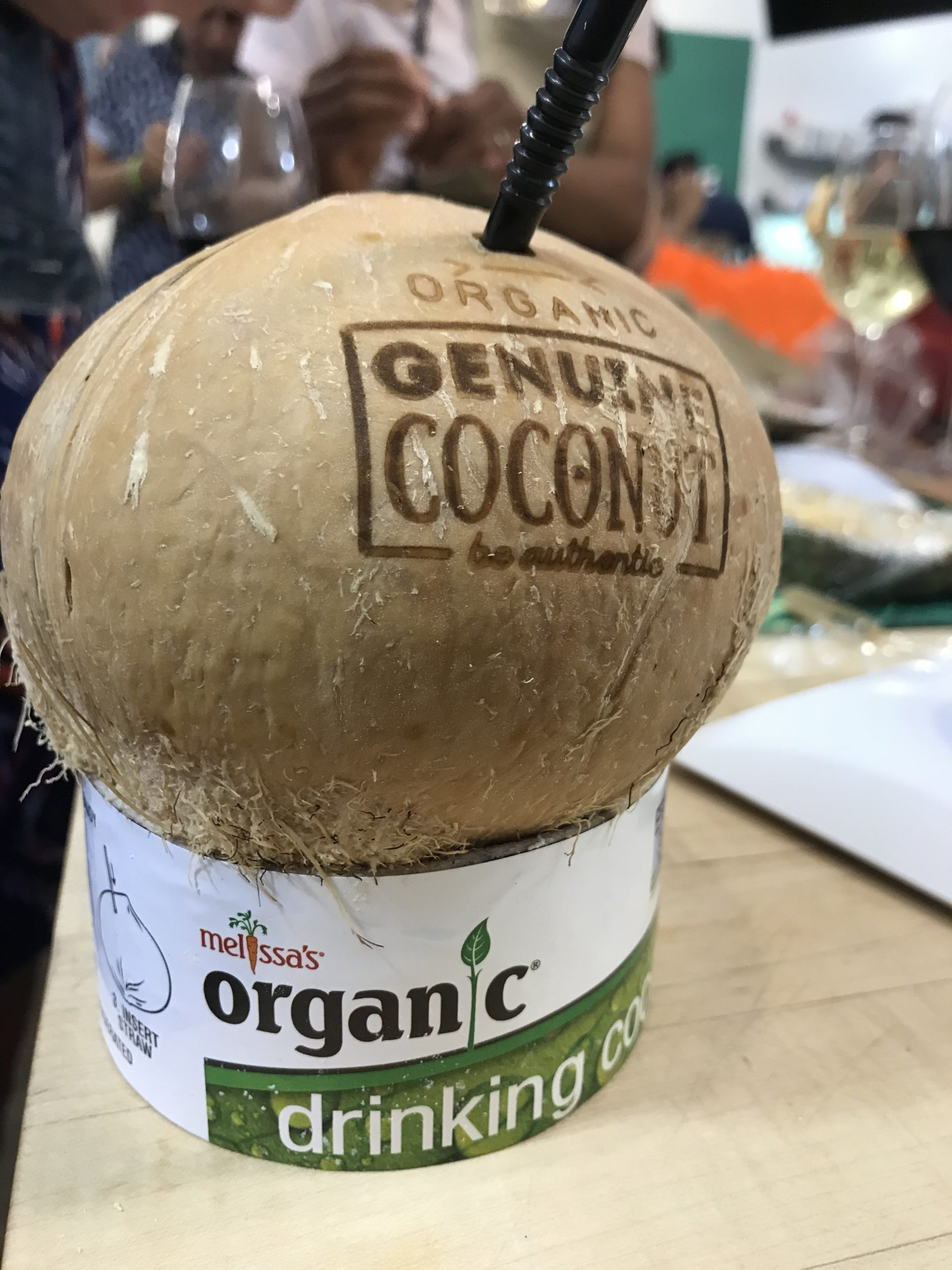 How fun is this?? Freshly tapped coconut water!