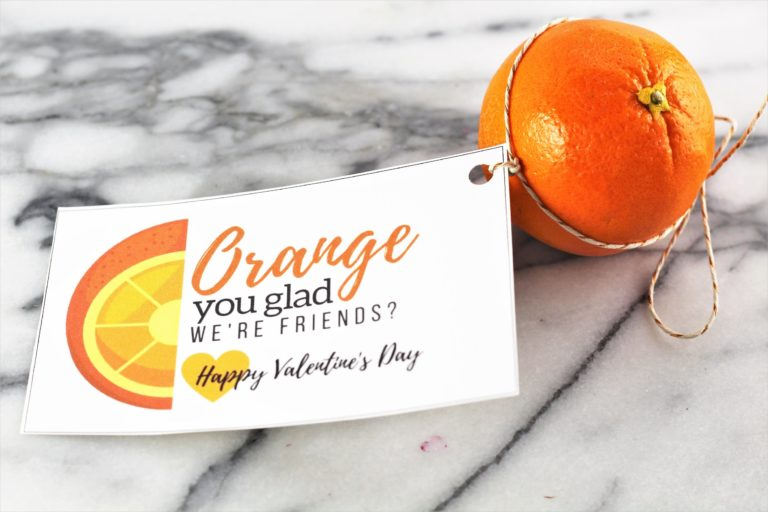 valentines day gift without candy orange you glad we're friends happy valentines day