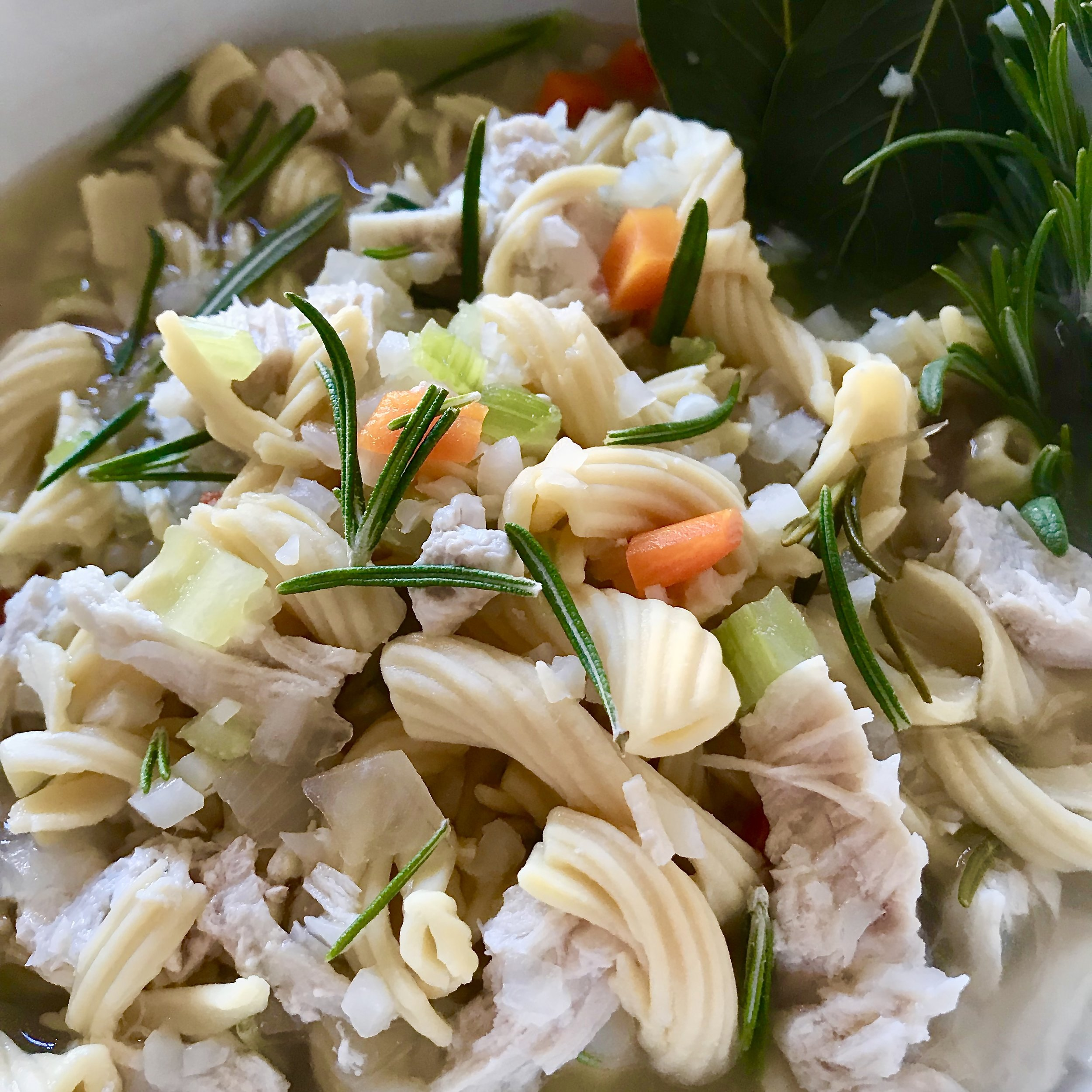 30 minute Chicken Noodle Veggie Soup