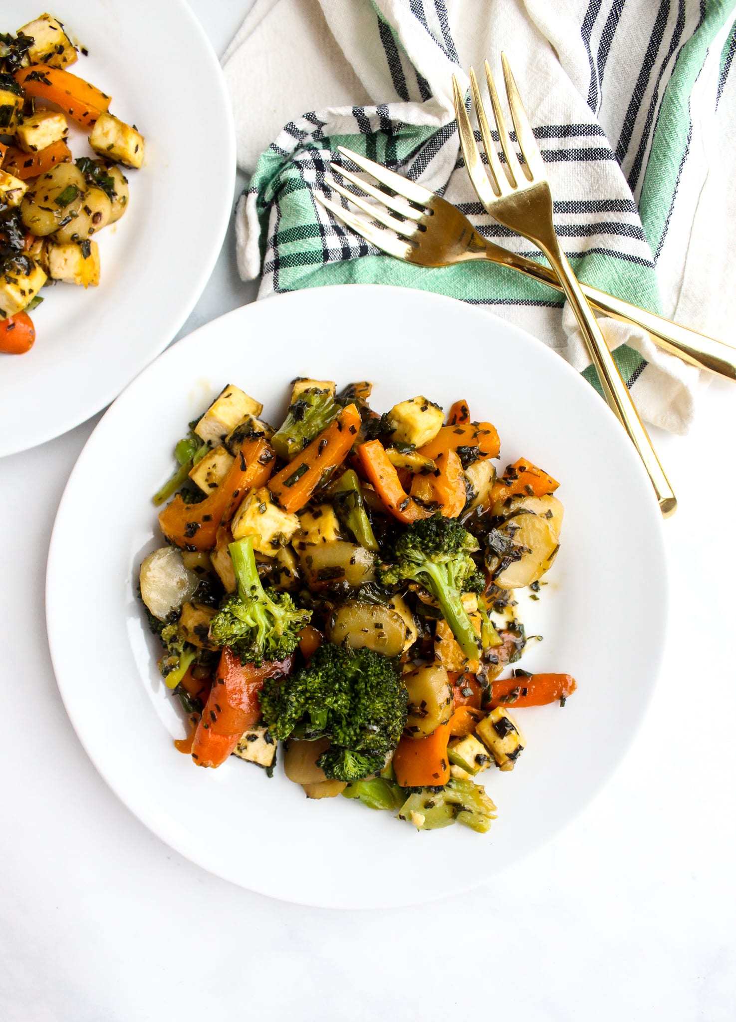 Pictured: Broccoli Stir Fry by Tara Rochford Nutrition (48 Quick and Easy Meatless Meals for Busy People)