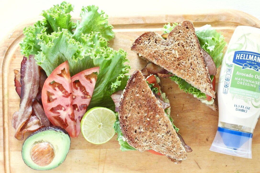 Avocado Lime BLT Sandwich