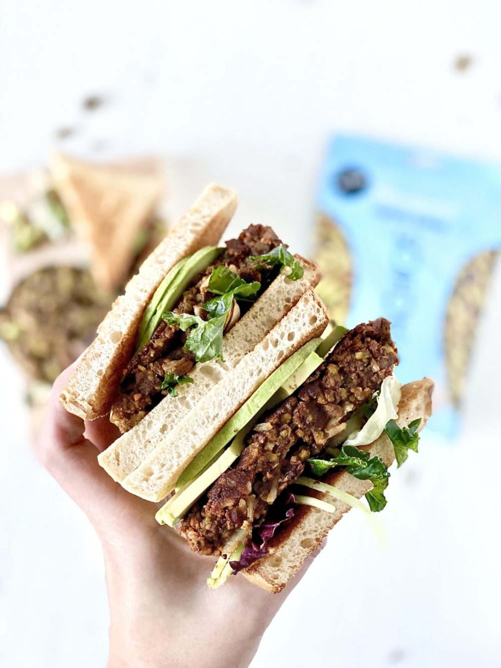 Caramelized onion and pistachio veggie burgers