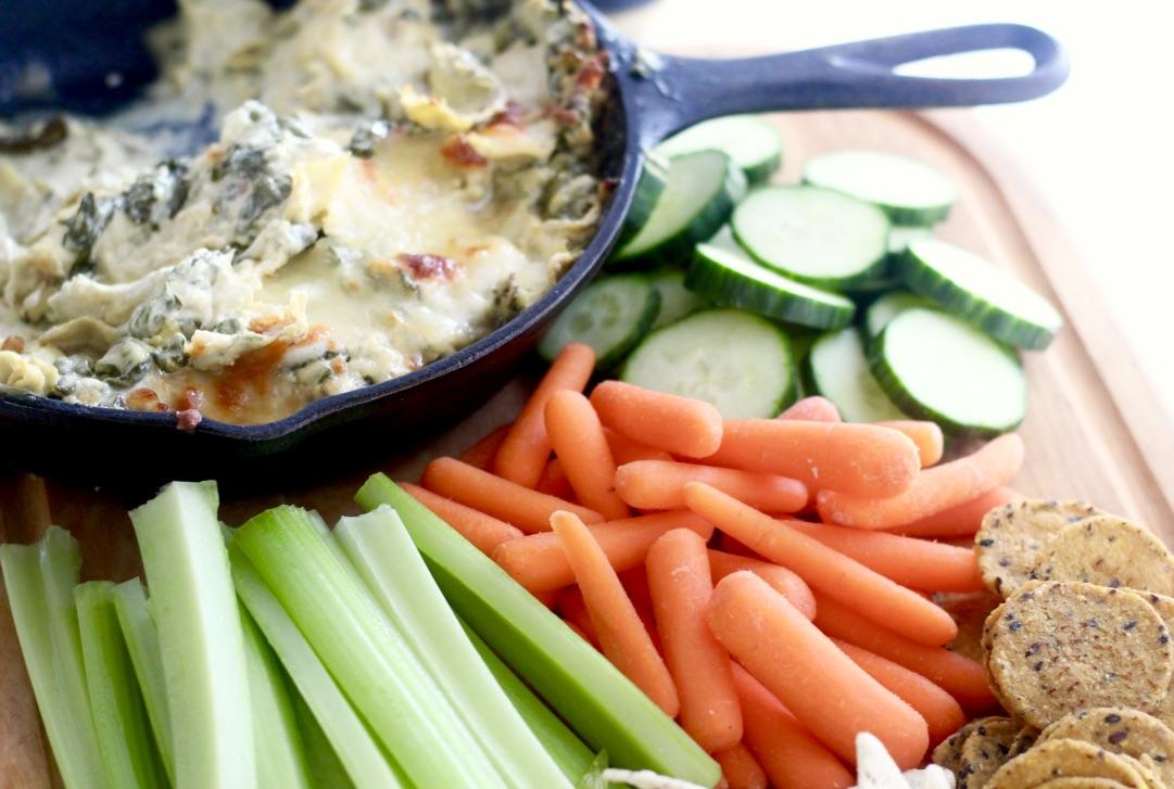 Creamy Dijon Spinach Artichoke Dip