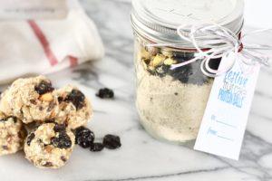 Festive Fruitcake Protein Balls recipe card