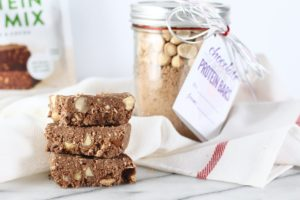 Chocolate Macadamia Nut Protein Bar Recipe Card