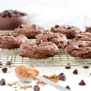 Double Chocolate Fudge Breakfast Cookies