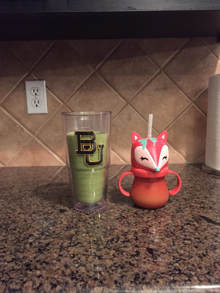 baylor university glass with kids cup