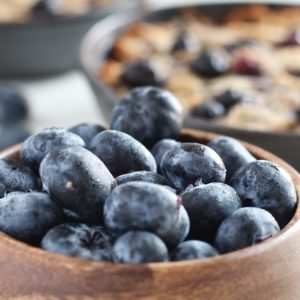 Grain Free Blueberry Lemon Breakfast Cookie Skillet
