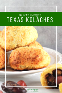 gluten free texas kolaches stacked on plate milk and honey nutrition