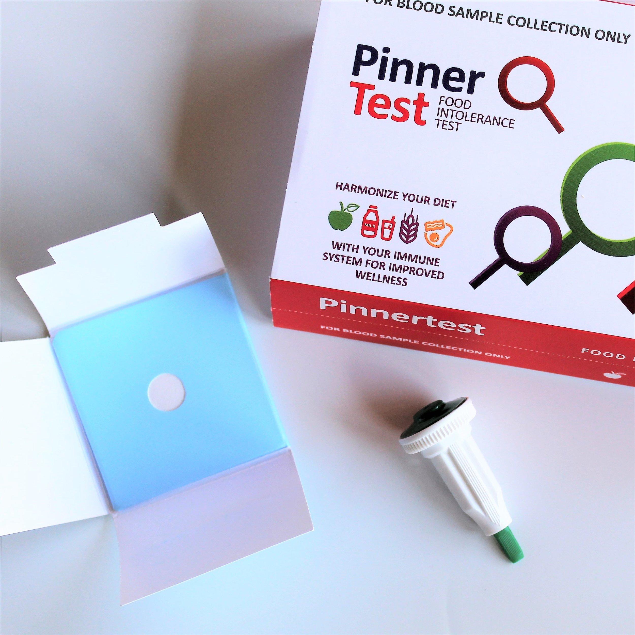 pinner test food intolerance test box