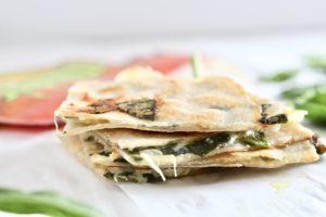 Low Carb Spinach Artichoke Dip Quesadilla