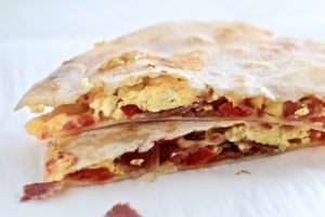 Low Carb Breakfast for Dinner Quesadilla