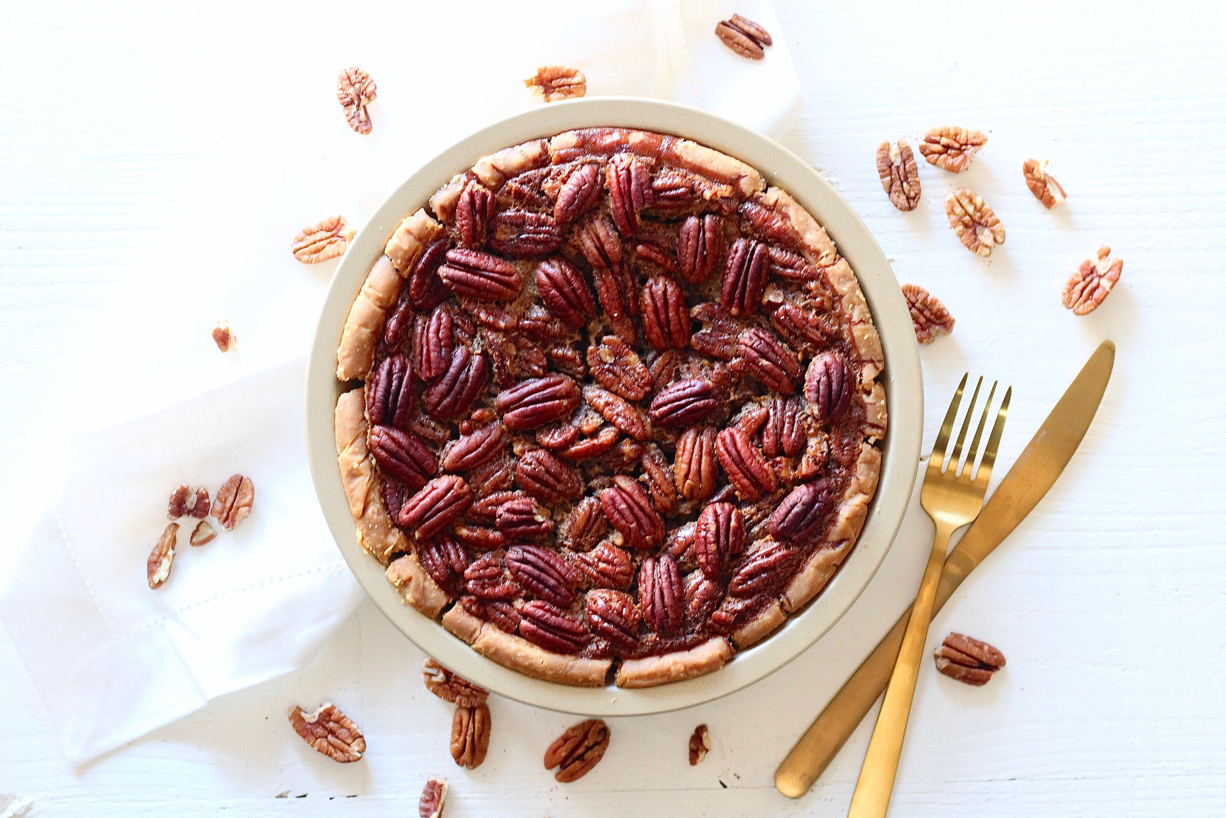 Lower Sugar Pecan Pie