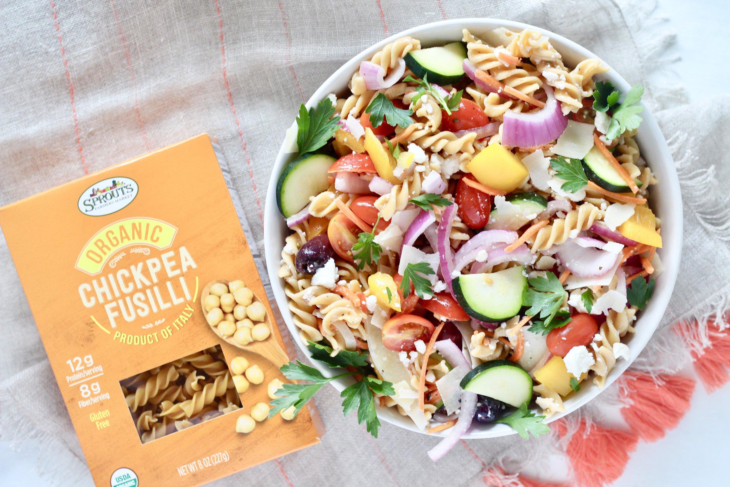 Mediterranean Veggie Pasta Salad