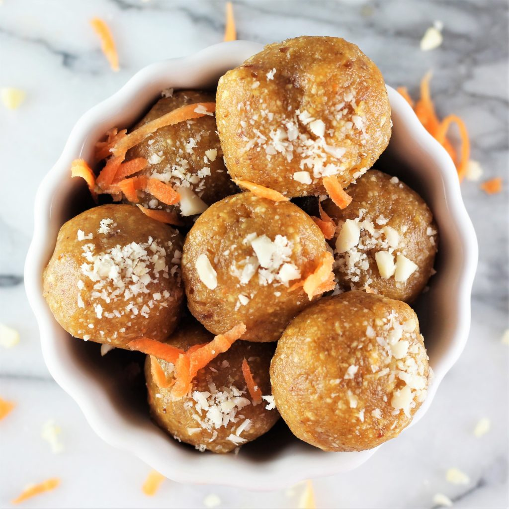 healthy no bake desserts carrot cake energy balls