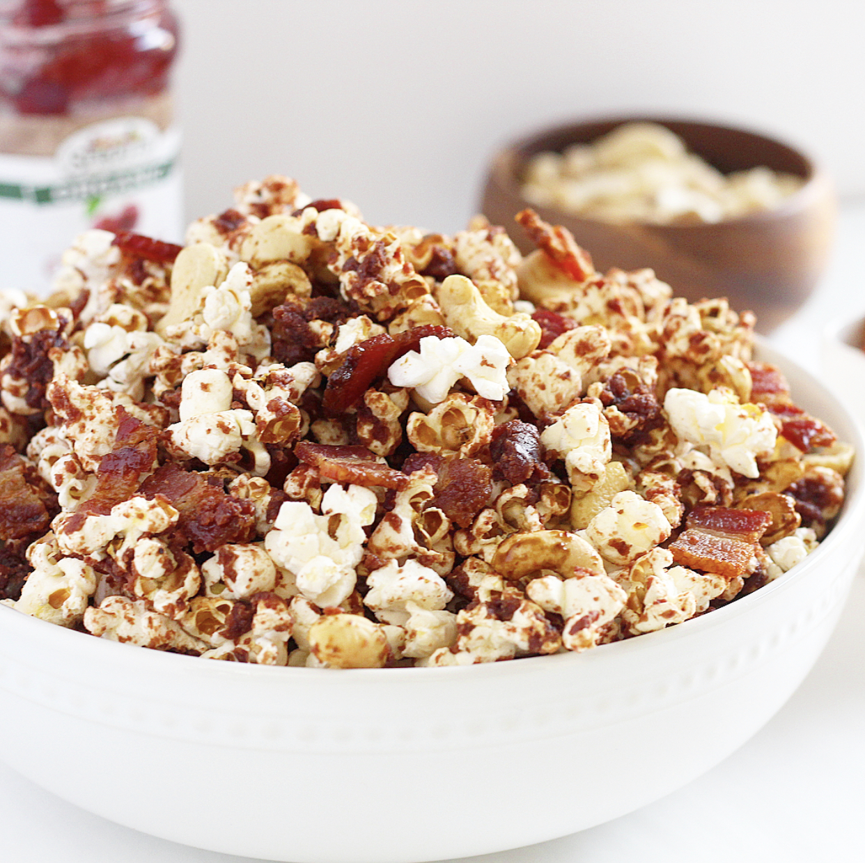 Nutty Cherry and Bacon Popcorn
