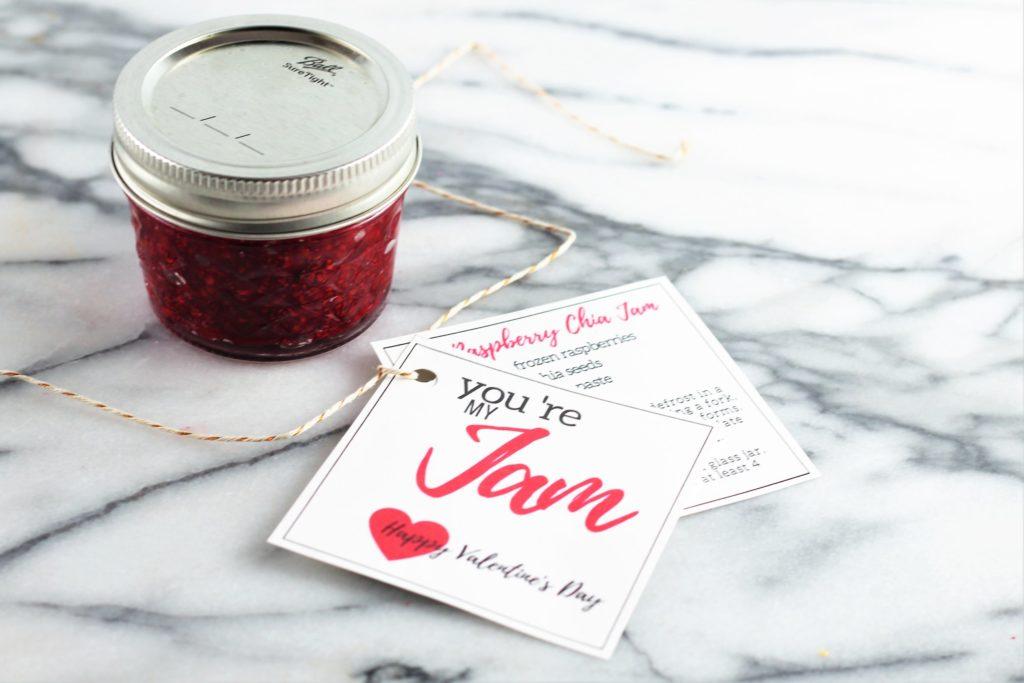you're my jam happy valentines day raspberry chia jam recipe with jar