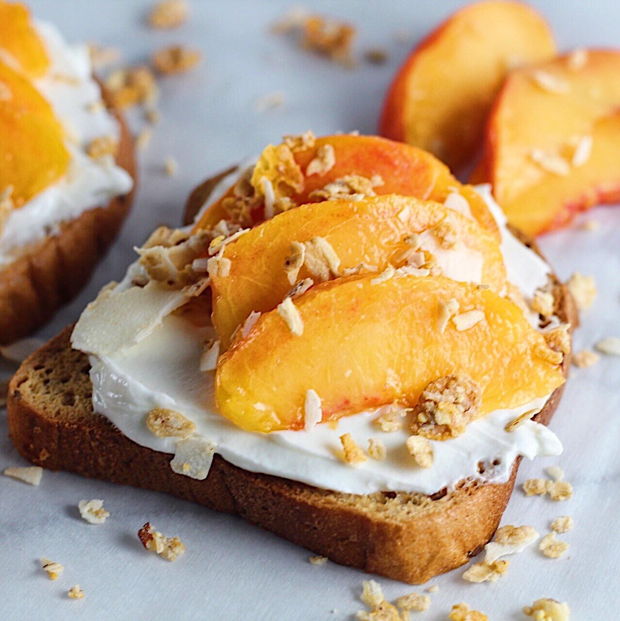 Peaches 'n Cream Toast