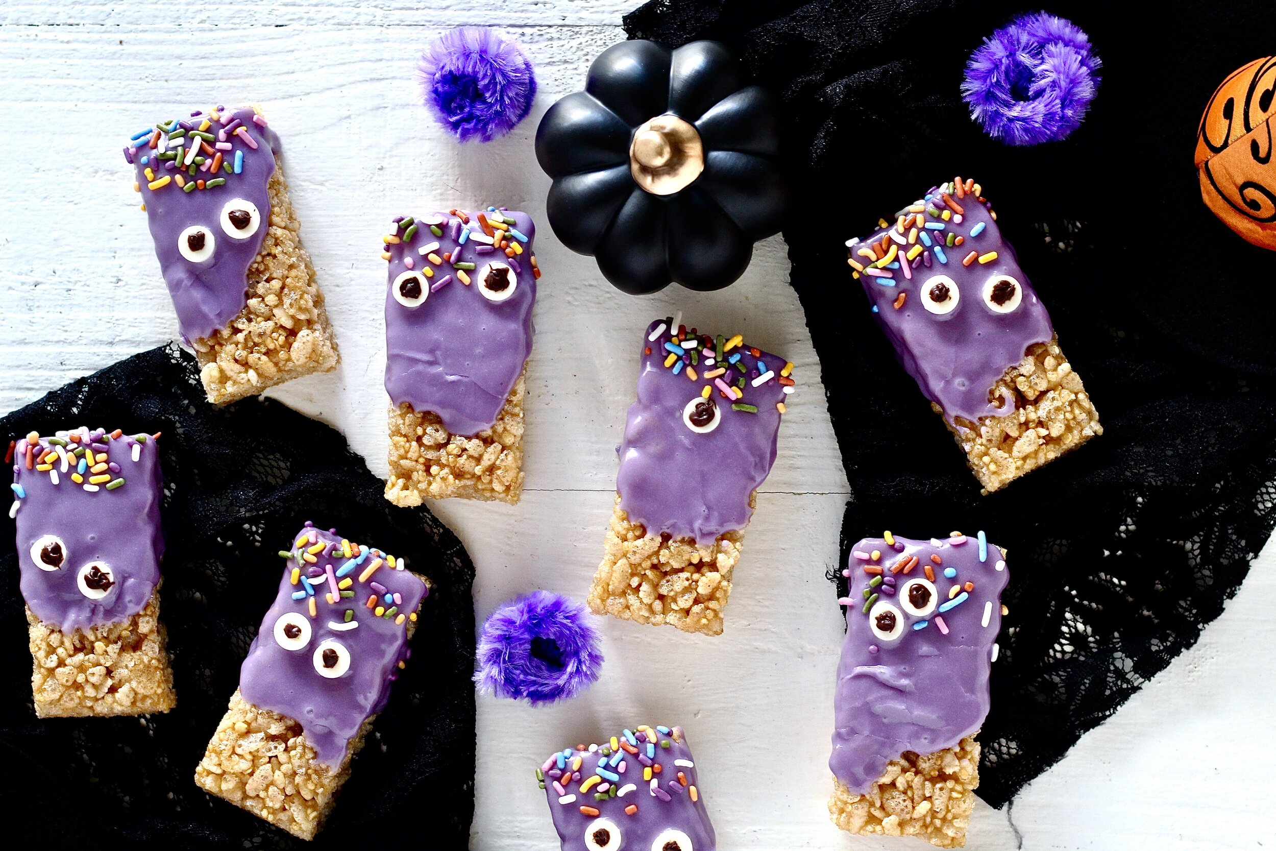 Purple Monster Halloween Treats
