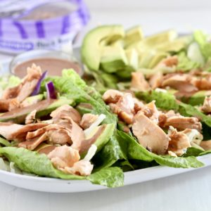 Easy Salmon Lettuce Wraps with Spicy Black Bean Sauce