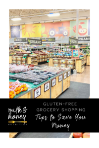 gluten-free grocery shopping tips to save you money milk and honey nutrition with sprouts grocery store in background