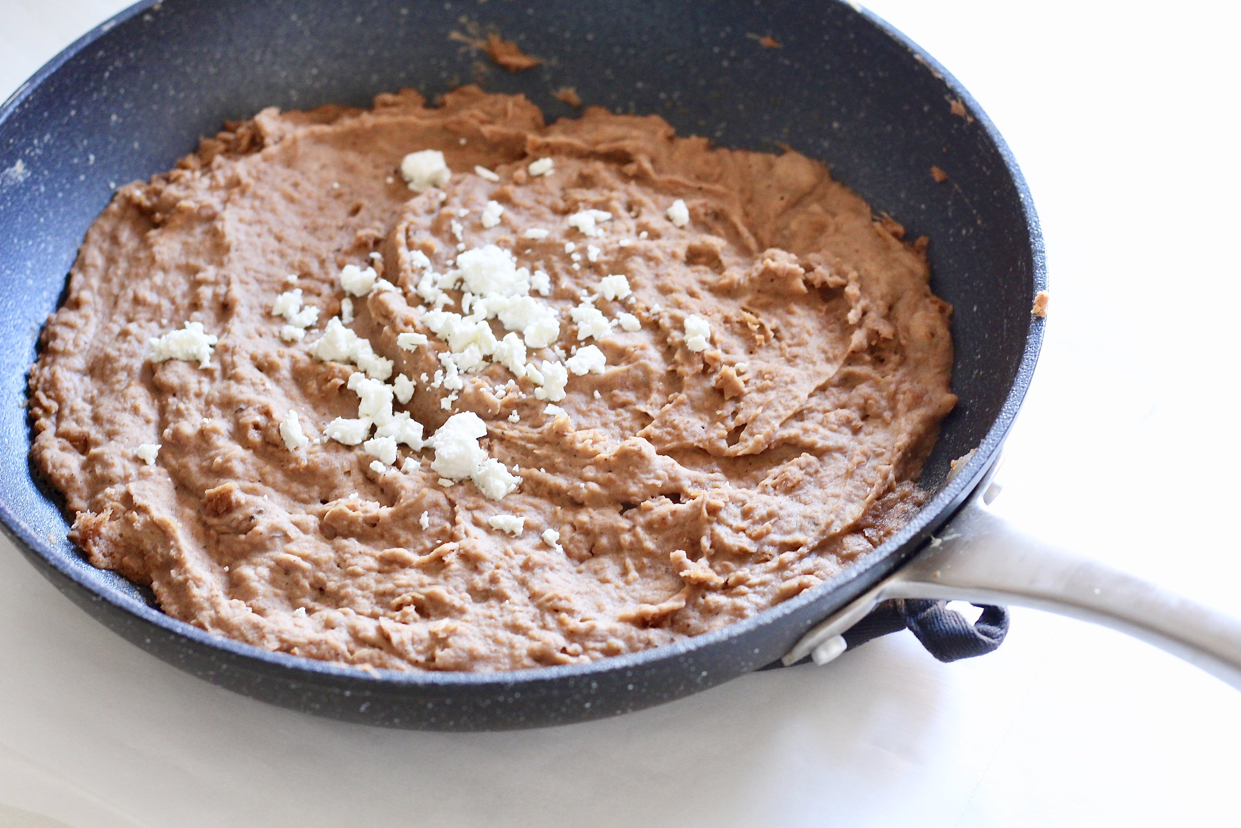 Semi-homemade Mexican refried beans