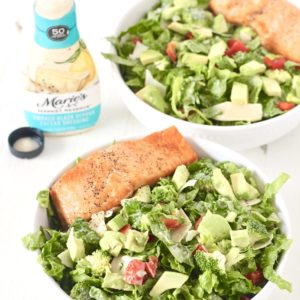 Smoked Black Pepper and Salmon Caesar Salad