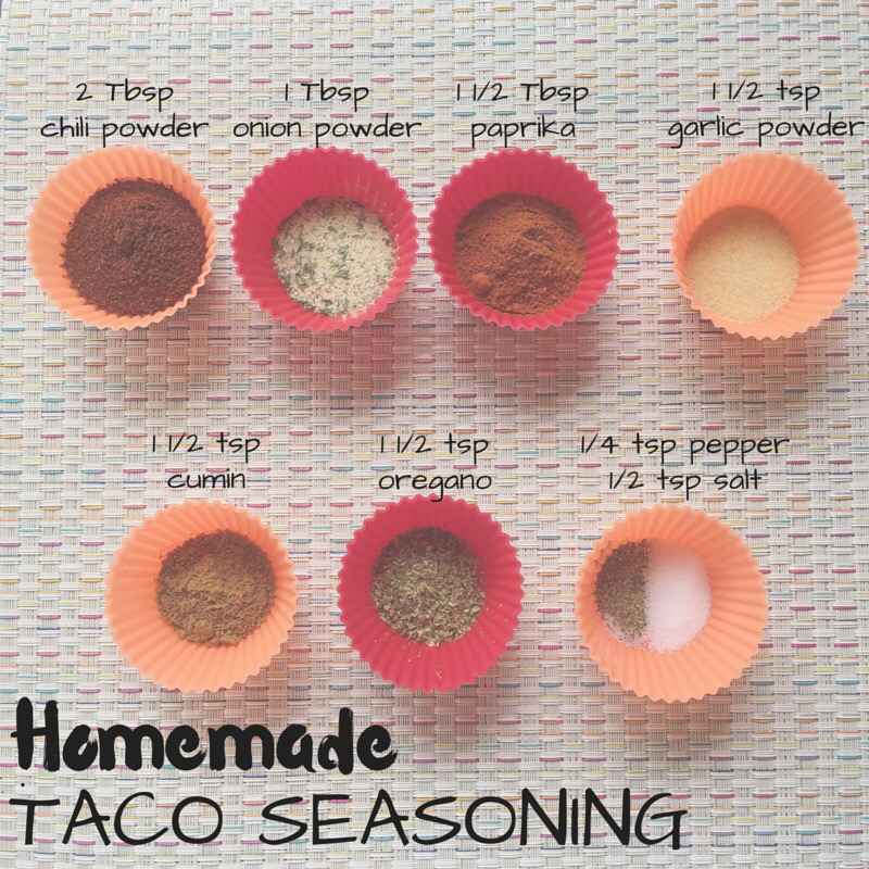 Homemade taco seasoning can go on veggies, meat, rice, etc. Click the image above for my recipe and more ways I like to use this mix... and also check out my  Mexican Riced Cauliflower !
