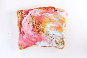 Watercolor Toast with no artificial dyes