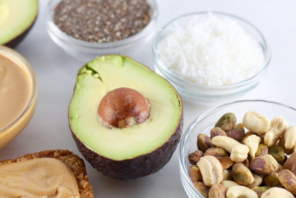 avocado close up with other healthy fats