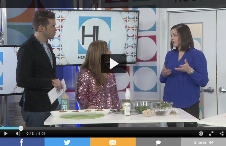 Mary Ellen Phipps on Houston Life talking about healthy food