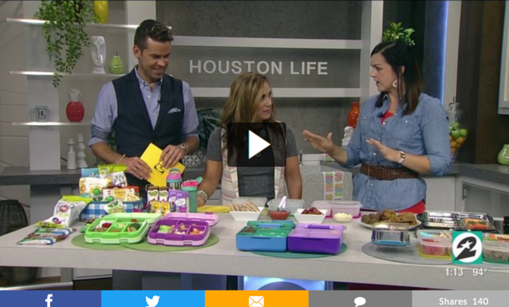 Mary Ellen Phipps on tv with back to school lunch creations