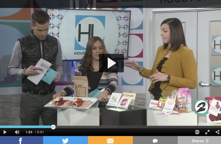 Mary Ellen Phipps on Houston Life talking about Valentines day healthy ideas