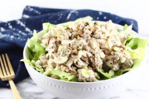 crunchy pistachio chicken salad