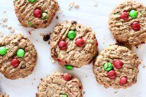 5 ingredient christmas cookies with M&Ms