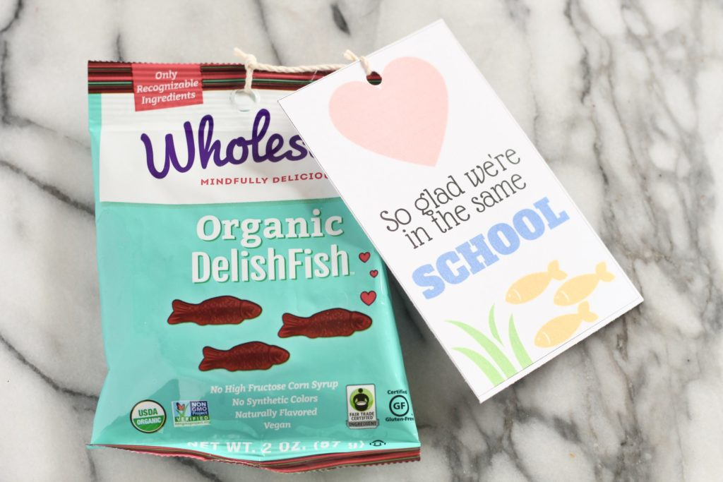 so glad we're in the same school organic delish fish valentines day card for kids