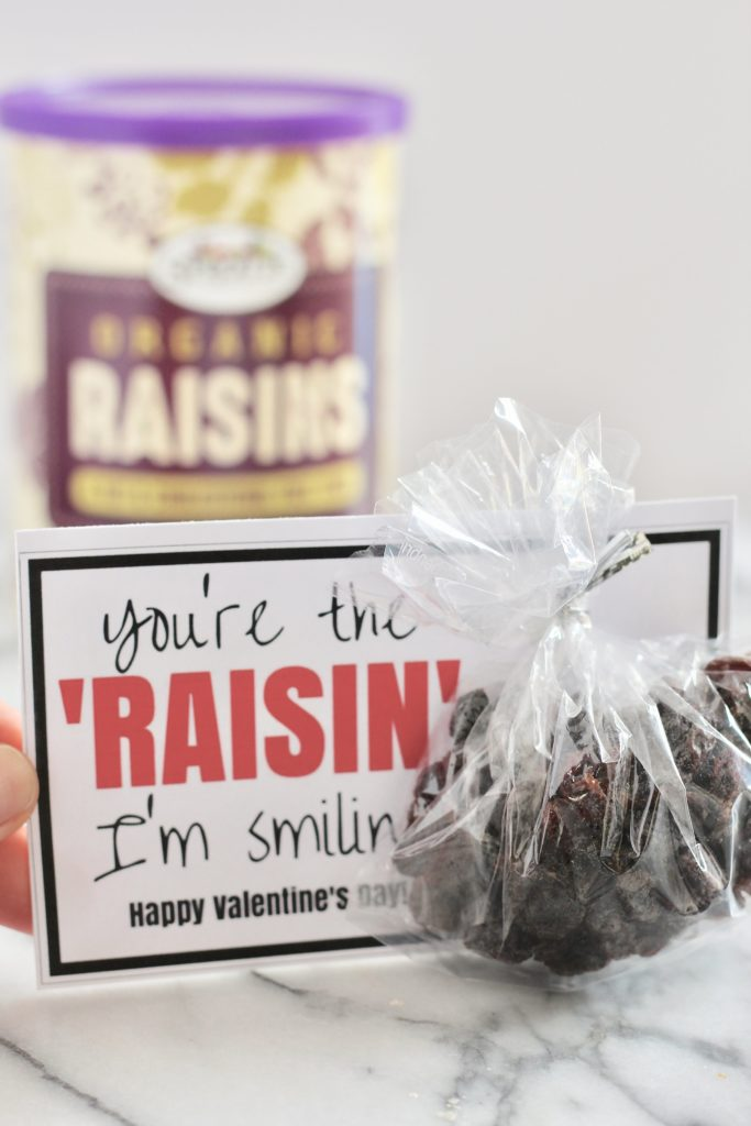 you're the raisin i'm smiling fun valentines day card with raisins