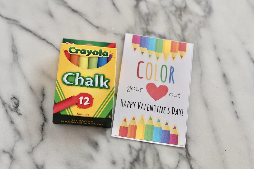 colorful chalk color your heart out happy valentines day card