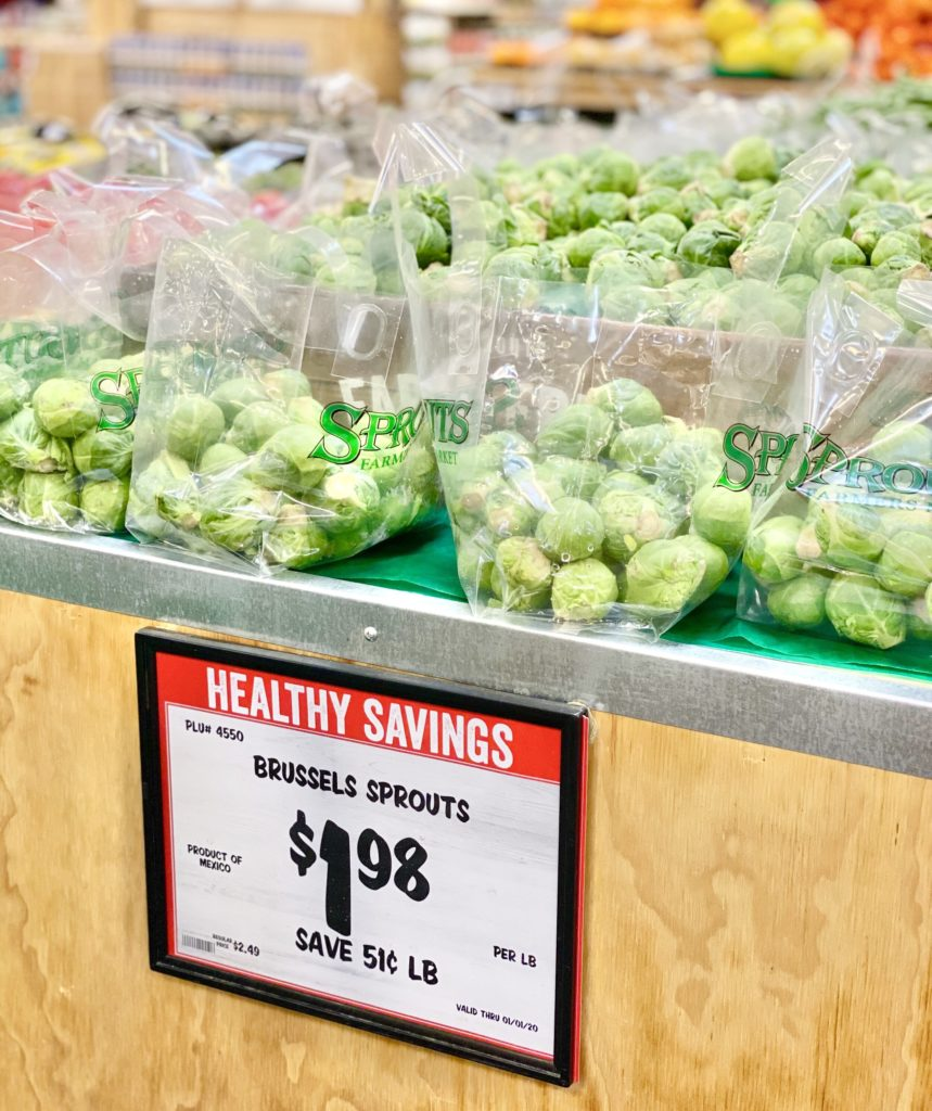 brussels sprouts healthy savings sprouts 1.98 per pound