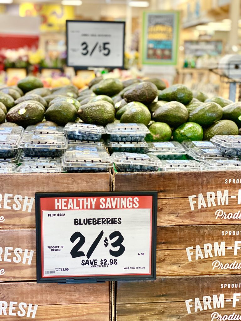 blueberries healthy savings sprouts 2/$3