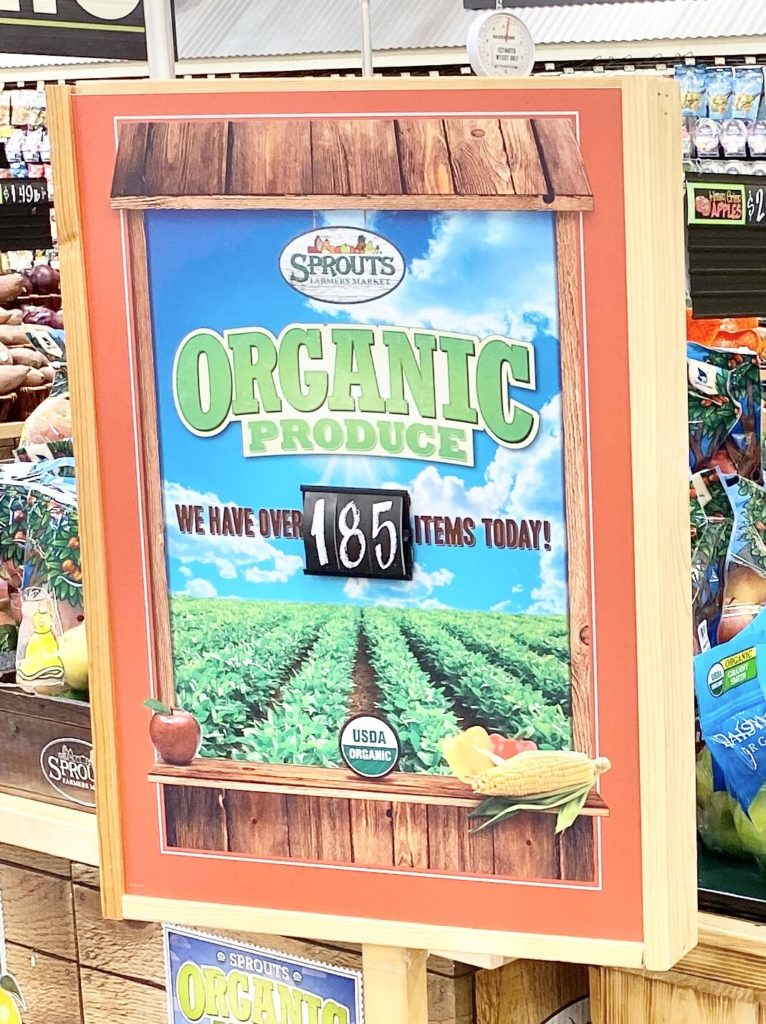 organic produce at sprouts