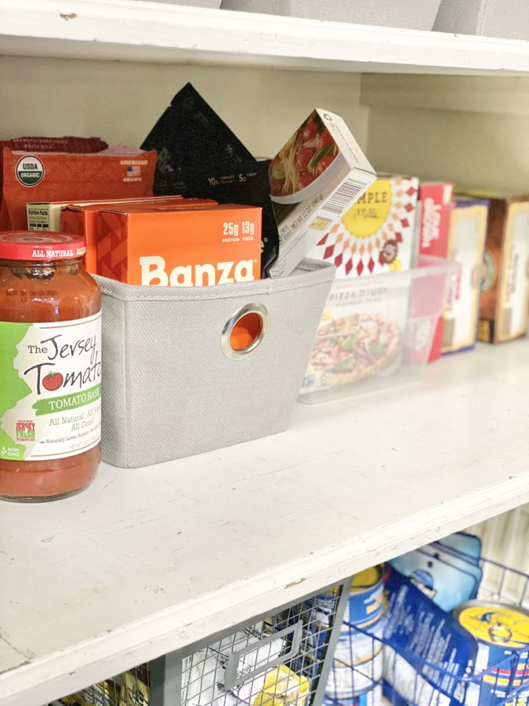 picture of pantry shelf banza, the jersey tomatoes milk and honey nutrition