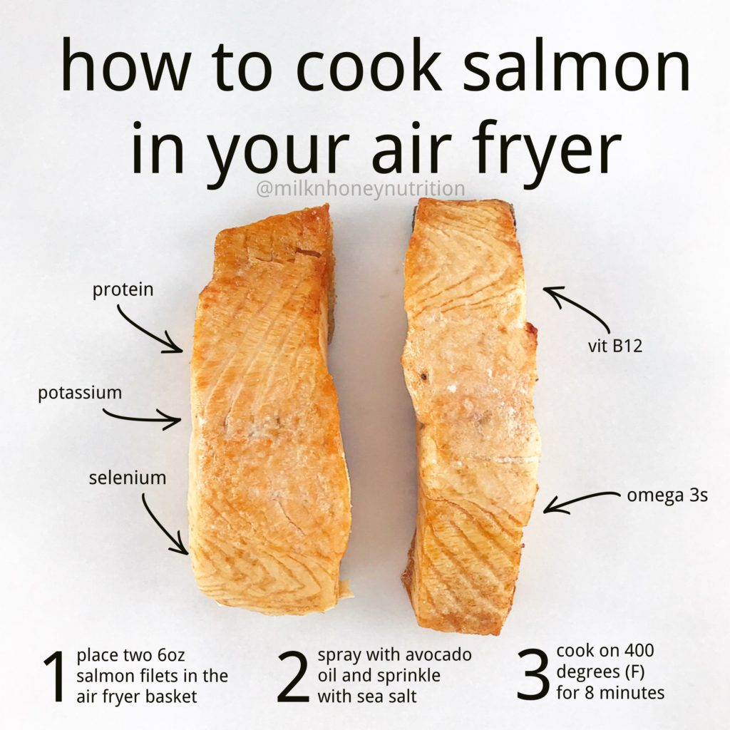 directions for how to cook salmon in your air fryer