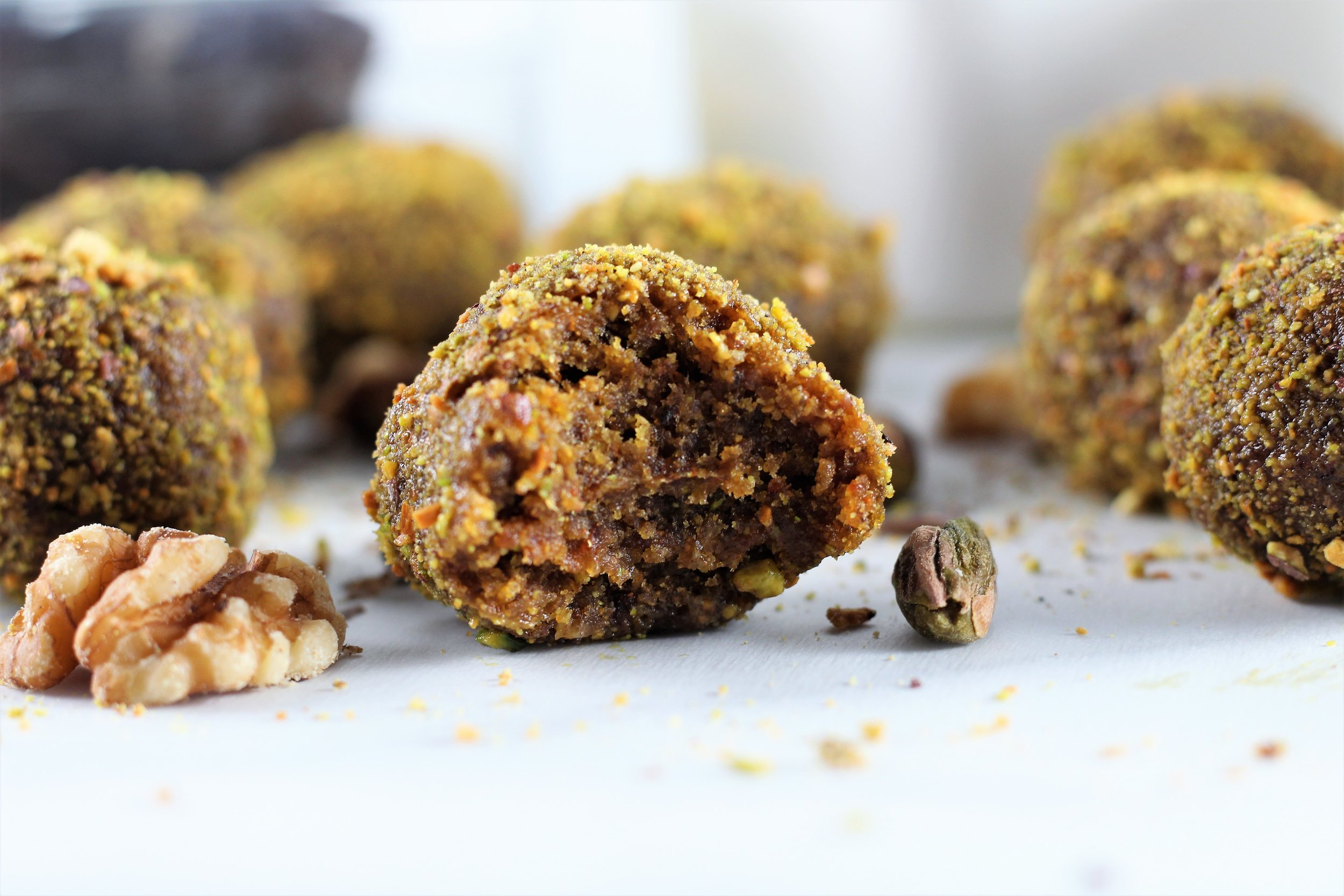 3. No-Bake Pistachio Walnut Energy Balls  (10 most popular recipes of 2018)  With only 4 ingredients and an on trend topic, it's no surprise these easy and flavorful; energy balls made this list.