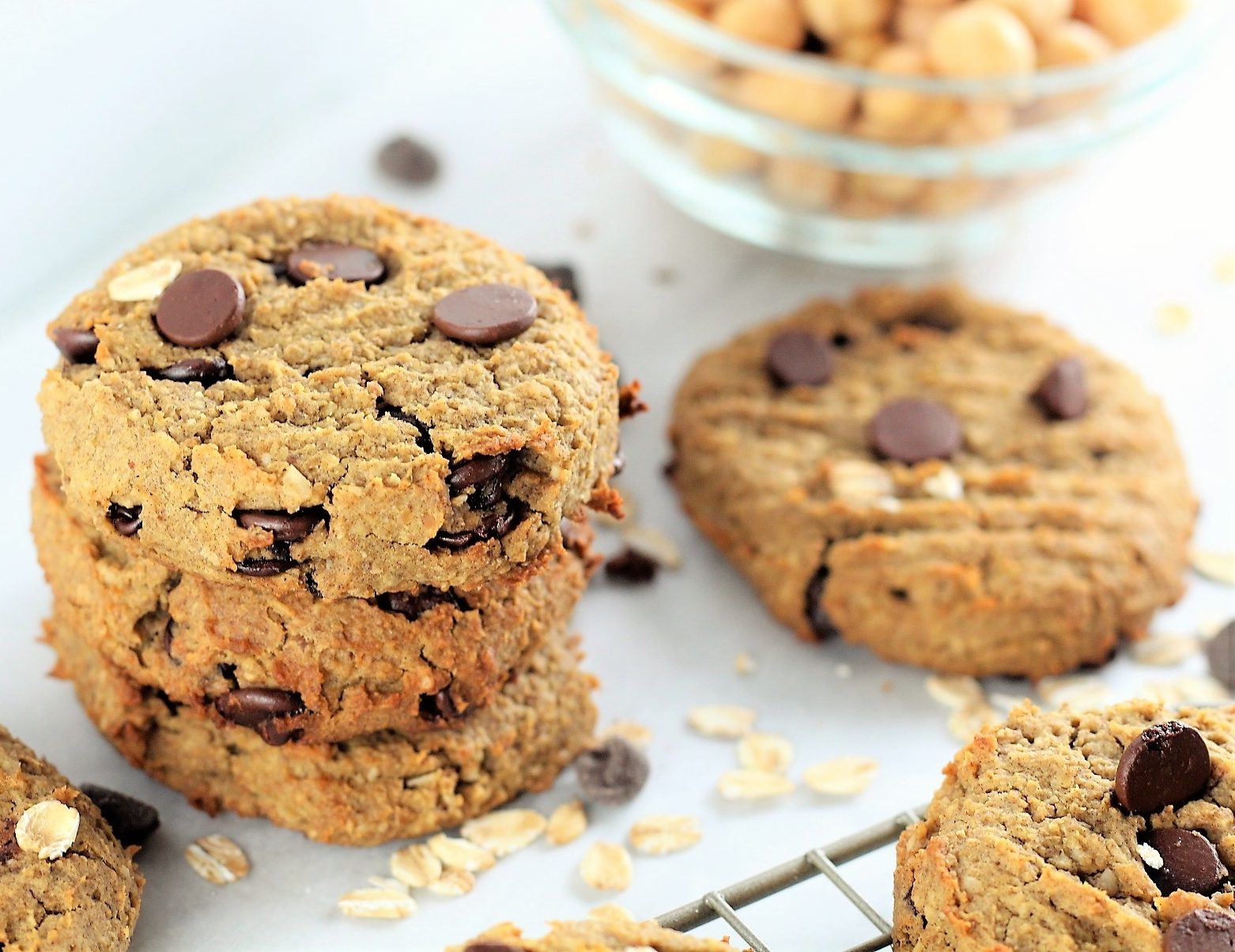 Oatmeal Chocolate Chip High Protein Cookies
