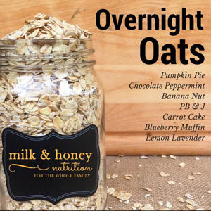A Week of Overnight Oats meal suggestions